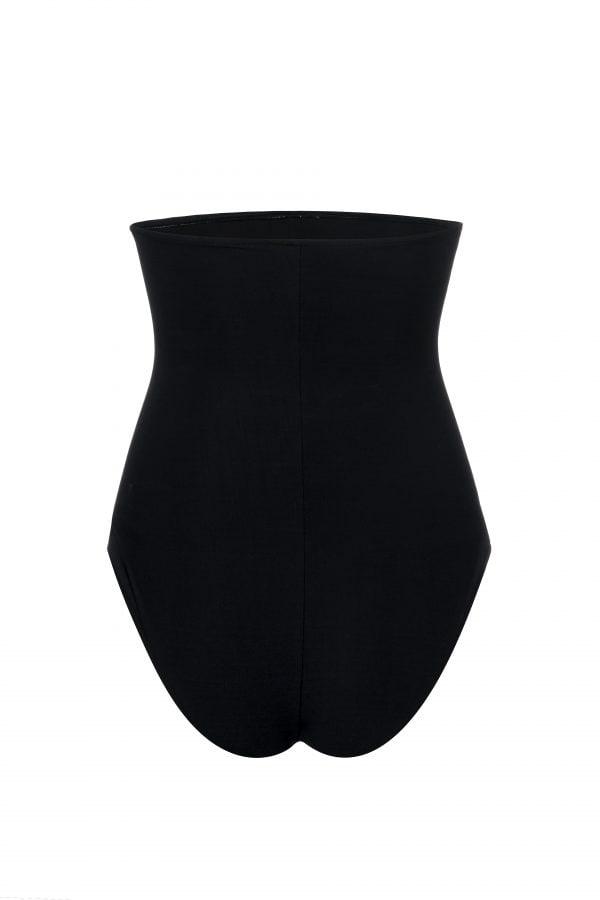 Braga de bikini tiro alto negra por detras