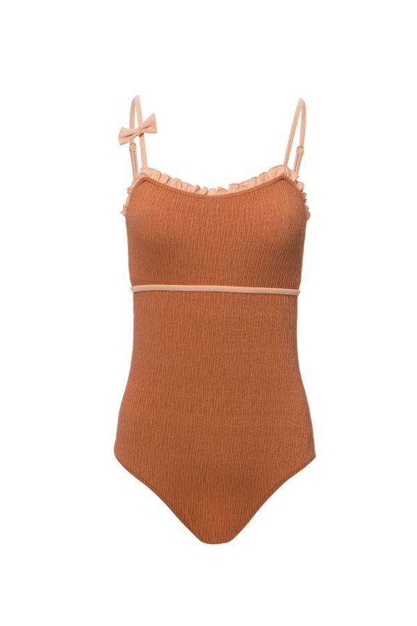 Bañador para mujer en color tierra y nude