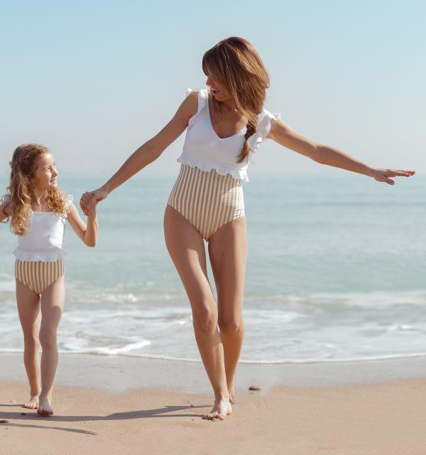 Bañador Cande Gold para mujeres y niñas
